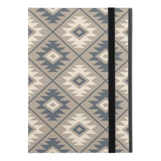 "Aztec Symbol Stylized Big Ptn Blue Cream Sand iPad Pro 9.7"" Case"