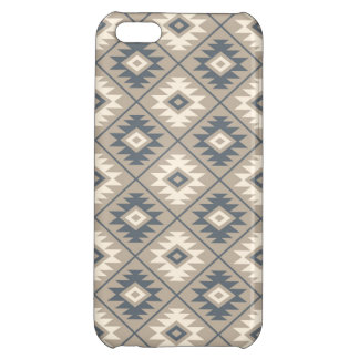Aztec Symbol Stylized Pattern Blue Cream Sand Case For iPhone 5C