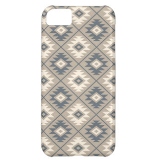 Aztec Symbol Stylized Pattern Blue Cream Sand Cover For iPhone 5C