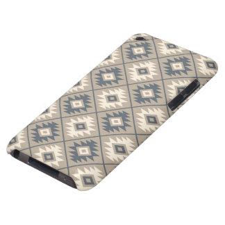 Aztec Symbol Stylized Pattern Blue Cream Sand iPod Touch Case-Mate Case