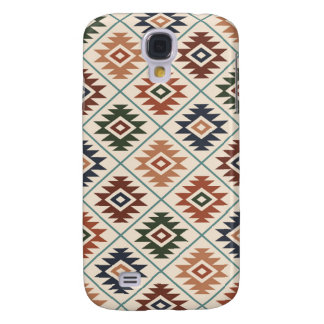 Aztec Symbol Stylized Pattern Color Mix
