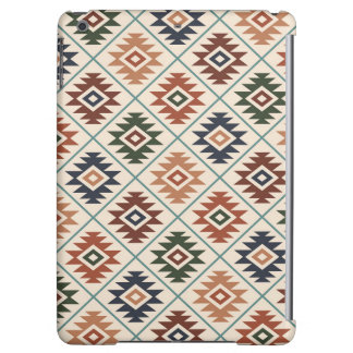 Aztec Symbol Stylized Pattern Color Mix Case For iPad Air