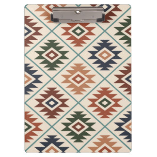 Aztec Symbol Stylized Pattern Color Mix Clipboard