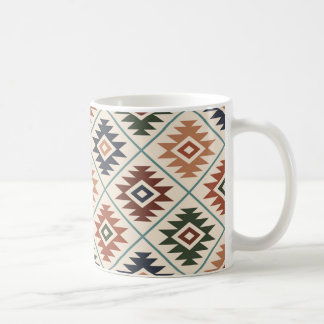 Aztec Symbol Stylized Pattern Color Mix Coffee Mug