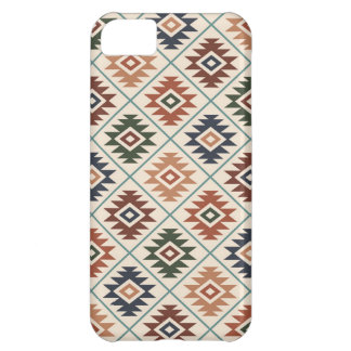 Aztec Symbol Stylized Pattern Color Mix Cover For iPhone 5C