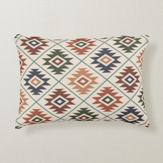 Aztec Symbol Stylized Pattern Color Mix Decorative Pillow