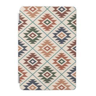 Aztec Symbol Stylized Pattern Color Mix iPad Mini Cover