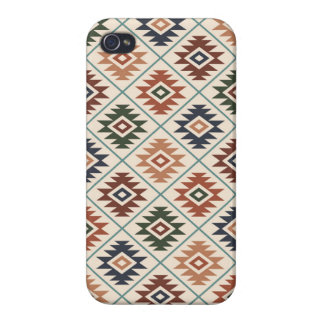 Aztec Symbol Stylized Pattern Color Mix iPhone 4/4S Case