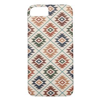 Aztec Symbol Stylized Pattern Color Mix iPhone 8/7 Case