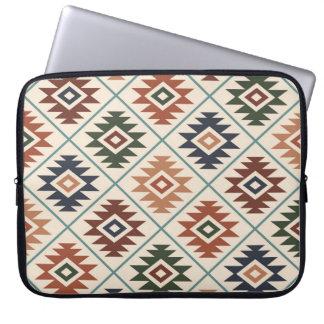 Aztec Symbol Stylized Pattern Color Mix Laptop Sleeve
