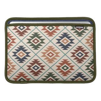 Aztec Symbol Stylized Pattern Color Mix MacBook Sleeve