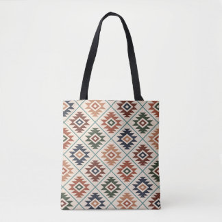 Aztec Symbol Stylized Pattern Color Mix Tote Bag