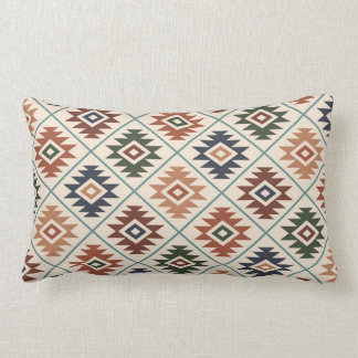 Aztec Symbol Stylized Rpt Pattern Color Mix Lumbar Pillow