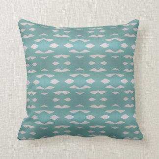 Aztec Teal Throw Pillow
