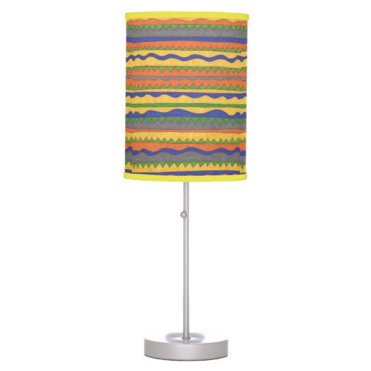 Aztec Tribal Bold Pattern Lamp