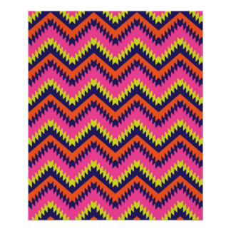 Aztec Tribal Chevron Poster