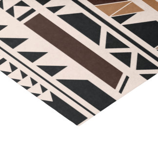 Aztec Tribal Geometric Tissue Paper