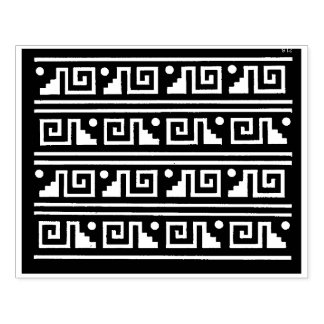 Aztec Tribal Graphic Design Stamp