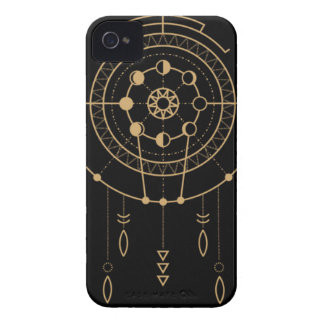 Aztec Tribal Mayan Black and Gold Phone Case