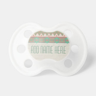 Aztec Tribal Native Pastel Peach/Aqua Pacifier