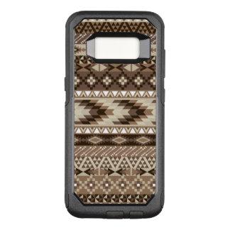 Aztec Tribal Neutral Browns Beige Taupe OtterBox Commuter Samsung Galaxy S8 Case