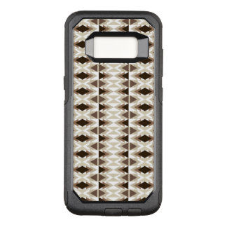 Aztec Tribal Neutral Browns Beige Taupe OtterBox Commuter Samsung Galaxy S8 Case