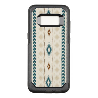 Aztec Tribal Neutral Browns Beige Teal OtterBox Commuter Samsung Galaxy S8 Case