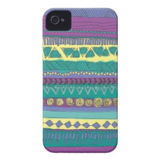 Aztec Tribal Pattern Case-Mate iPhone 4 Case