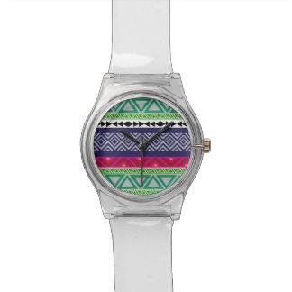 Aztec tribal pattern custom ladies wrist watch