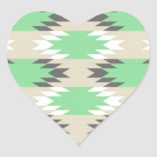 Aztec Tribal Pattern Heart Sticker