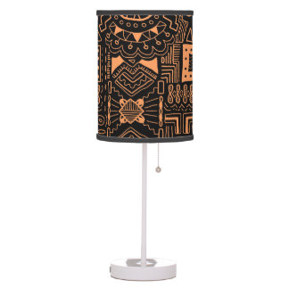 Aztec Tribal pattern home decor lamp