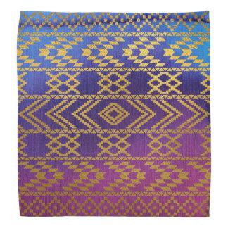 Aztec Tribal Pink, Purple, Aqua & Gold Watercolor Do-rag