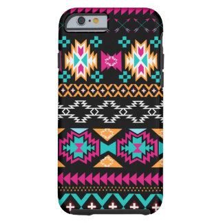 Aztec Tribal print pink turquoise black gold Tough iPhone 6 Case
