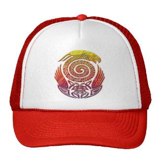 Aztec tribal stone bird hat