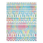 Aztec tribal vibrant abstract watercolors splatter poster