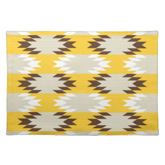 Aztec Tribal Yellow Brown Native American Designs Place Mat