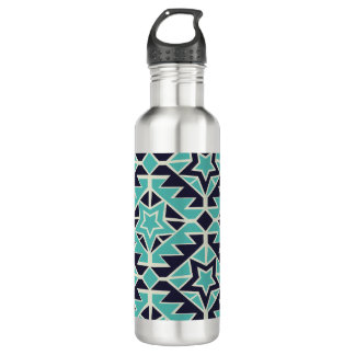 Aztec turquoise and navy 710 ml water bottle