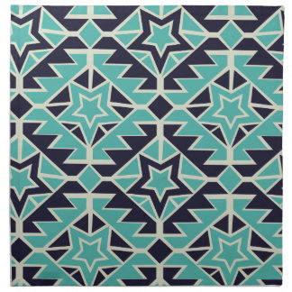 Aztec turquoise and navy napkin