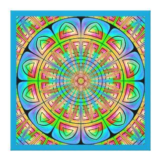 Aztec Wheel Wrapped Canvas