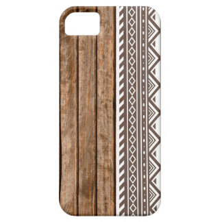 Aztec wood panel print iPhone 5 cover