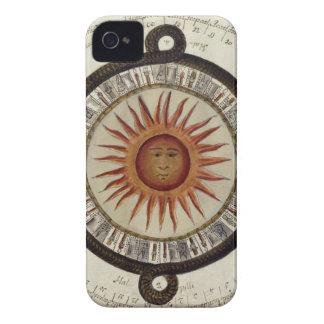 Aztecs Mexican Calendar Sundial Sun 1790 vintage iPhone 4 Cover