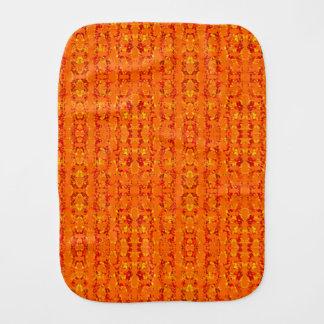 Aztek Orange burp cloth