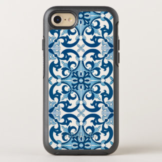 Azulejo Fleur De Lis Style Pattern OtterBox Symmetry iPhone 8/7 Case