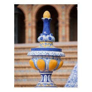 Azulejo Glazed Finial Postcard