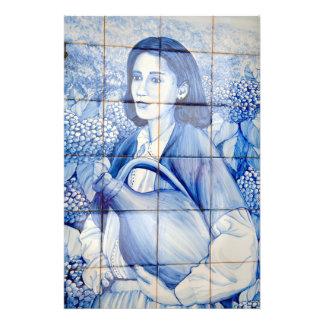 Azulejo mural photo print