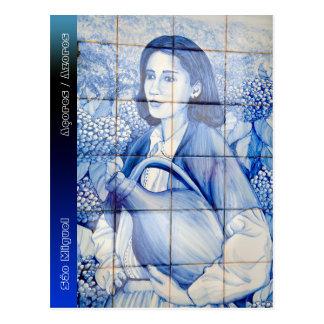 Azulejo mural postcard