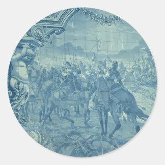 Azulejo tile classic round sticker
