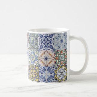 Azulejos patchwork coffee mug