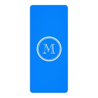 "Azur High End Colored Monogram Initial 4"" X 9.25"" Invitation Card"