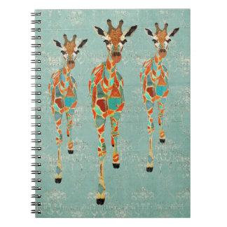 Azure Amber Giraffes Notebook